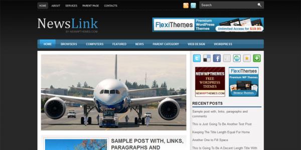Новостная тема WordPress от NewWpThemes: NewsLink