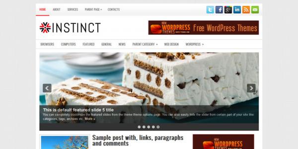 Кулинарная новостная тема для wordpress: Instinct