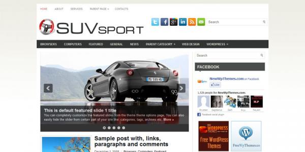 Новостная тема wordpress про автоспорт: SuvSport