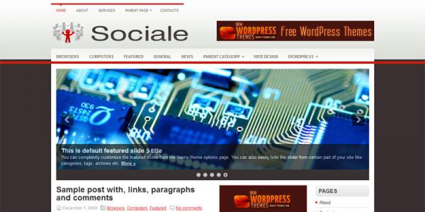 Социальная тема для WordPress: Sociale