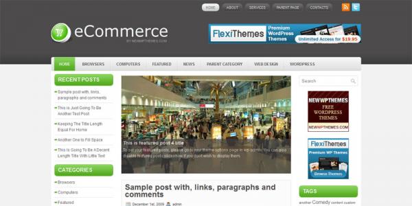 Шаблон для WordPress от NewWpThemes: eCommerce