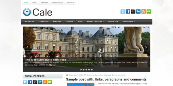 Городской шаблон для wordpress: Cale