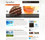 Кулинарная тема wordpress: Gradus