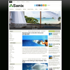 Светлая трехколоночная тема wordpress: Sanix