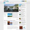 Серая новостная тема для wordpress: WPDaily