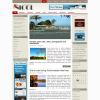 Серый новостной шаблон для wordpress: Nicol