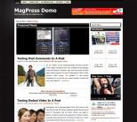 Черный новостная тема для wordpress: DarkHive
