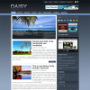 Темно синий шаблон wordpress: Daisy