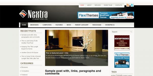 Бесплатная новостная тема вордпресс: Nextra