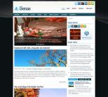 Голубая новостная тема для wordpress от NewWpThemes: iSense