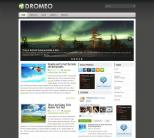 Новостной шаблон wordpress: Dromeo