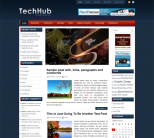 Технический новостной шаблон от NewWpThemes: TechHub