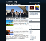 Темная бизнес тема wordpress: Business Top