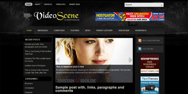 Видео тема для wordpress: VideoScene
