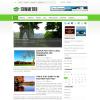 Светлая зеленая новостная тема wordpress: Symmetry