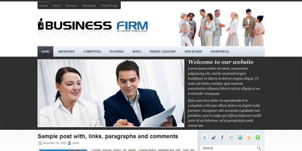 Бизнес шаблон для wordpress: BusinessFirm