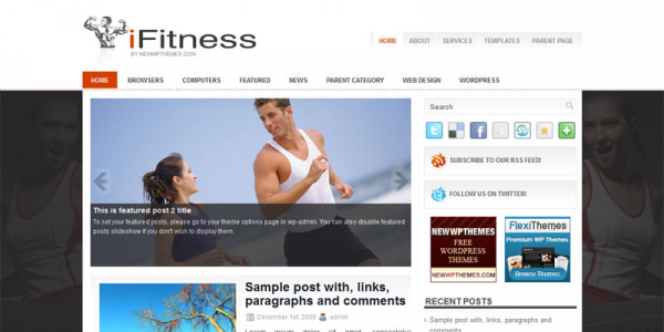 Фитнес шаблон wordpress от NewWpThemes: iFitness