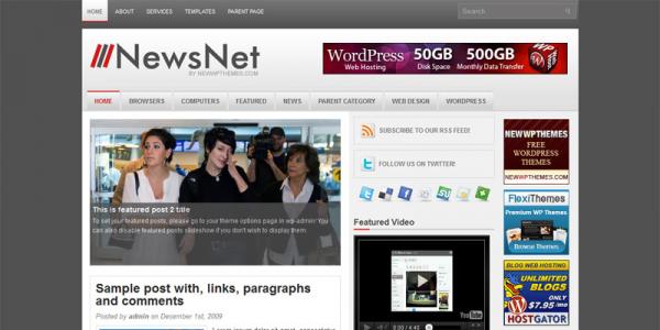 Новости интернета в шаблоне wordpress: NewsNet