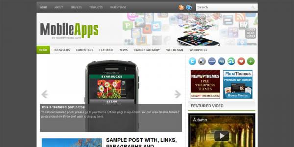 Мобильные приложения в шаблоне wordpress: MobileApps