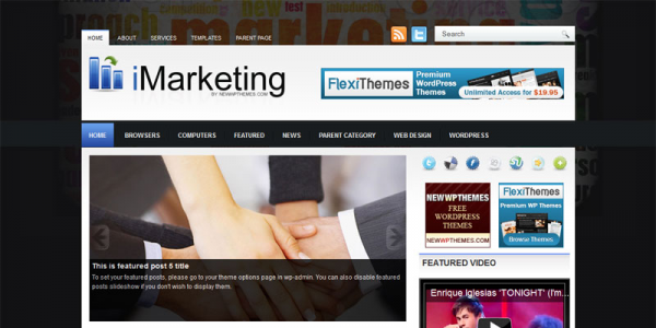 Финансовый шаблон для wordpress: iMarketing