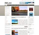 Спокойный шаблон для wordpress: Relax