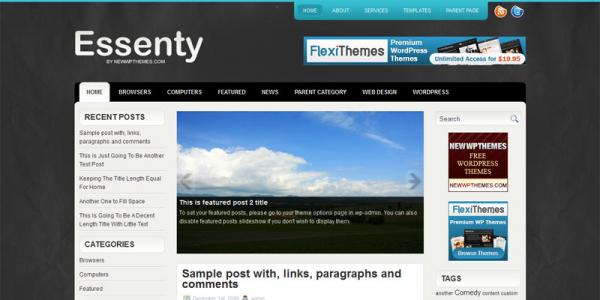 Новостная тема для wordpress: Essenty