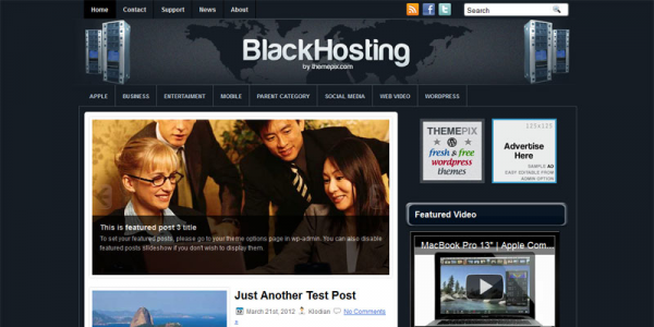 Хостинг шаблон wordpress: BlackHosting