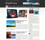 Apple шаблон для wordpress: iPadPress