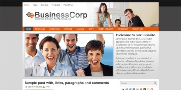 Бизнес новостной шаблон wordpress: Business Corp