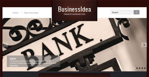 Бизнес шаблон для wordpress: BusinessIdea
