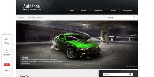 Автомобильная тема для wordpress: AutoZone