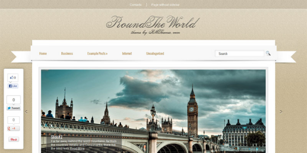 Туризм в шаблоне wordpress: RoundTheWorld