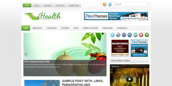 Медицинская тема для wordpress: iHealth