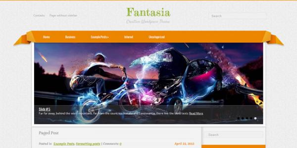 Яркий шаблон для wordpress Fantasia