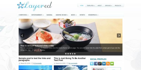 Кулинарная новостная тема wordpress: Layered