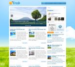 Природа в шаблоне wordpress: Fresh