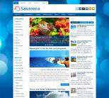 Синяя новостная тема вордпресс: Savarona