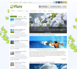 Цветочный шаблон для wordpress: Flore