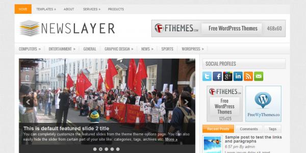 Газетная тема для wordpress: NewsLayer