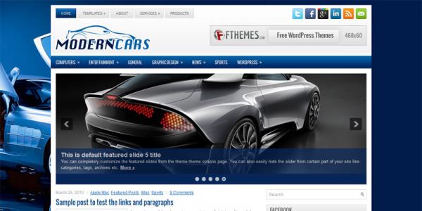 Авто шаблон для wordpress: ModernCars