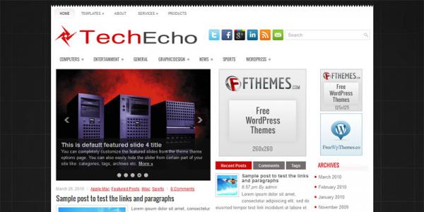 Компьютерный шаблон для wordpress: TechEcho