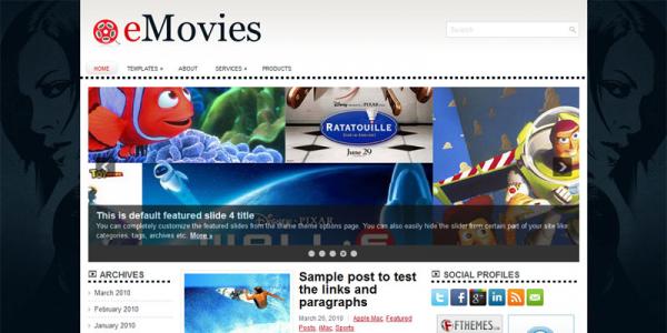 Кино шаблон для wordpress: eMovies
