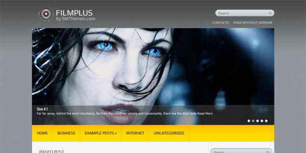 Кино шаблон для wordpress: FilmPlus
