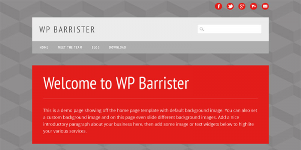 Серая тема для wordpress: Barrister