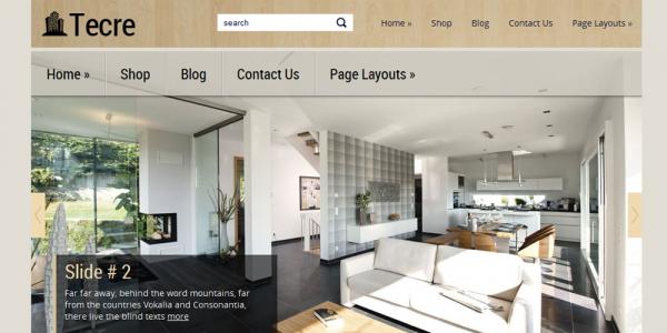 Новостной шаблон wordpress о недвижимости: Tecre