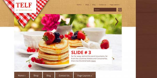 Кулинарный шаблон вордпресс: Telf